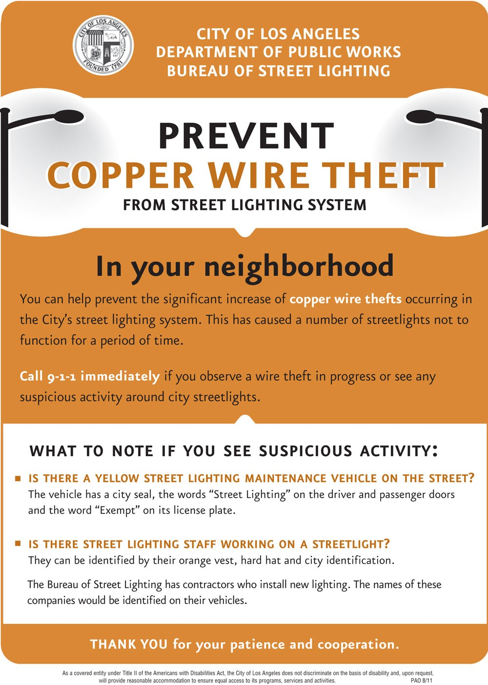 Help Prevent Copper Wire Theft from Street Lights - Mission Hills Neighborhood Council  sc 1 st  Mission Hills Neighborhood Council & Help Prevent Copper Wire Theft from Street Lights - Mission Hills ... azcodes.com